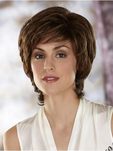 Synthetic Short Wavy Beautiful Brown Wigs