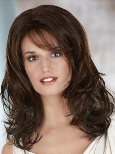Synthetic Long Wavy Hairstyles Brown Wigs