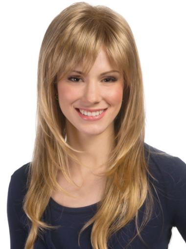 Synthetic Long Wavy Stylish Blonde Wigs