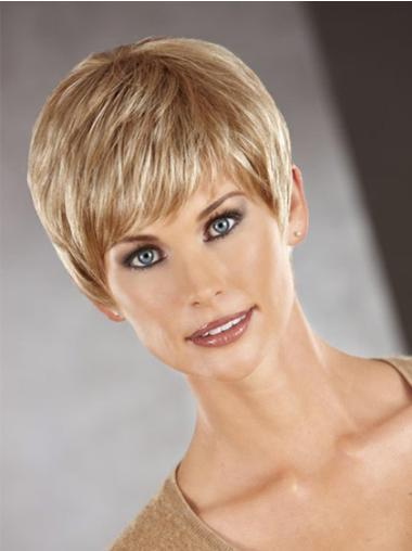 Synthetic Short Straight Trendy Auburn Wigs