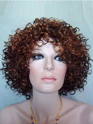 Synthetic Short Curly Cheap Brown Wigs