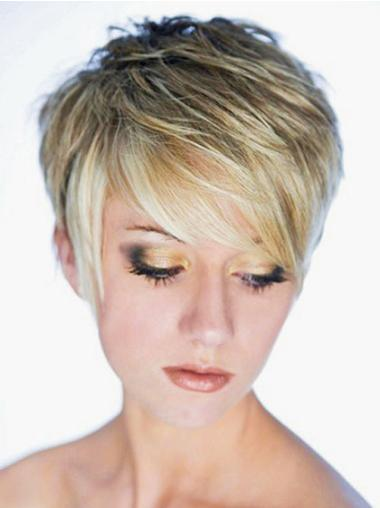 Synthetic Short Straight Modern Blonde Wigs