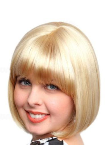 Synthetic Short Straight Affordable Blonde Wigs