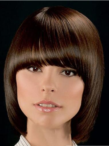 Synthetic Short Straight Sassy Brown Wigs