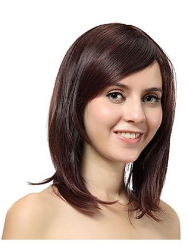 Straight Flexibility Synthetic Brown Wigs