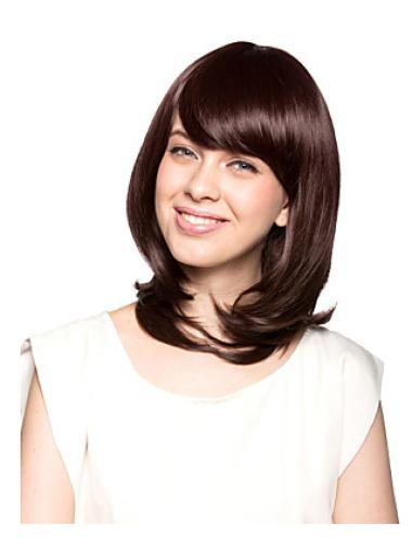 Wavy Comfortable Synthetic Brown Wigs