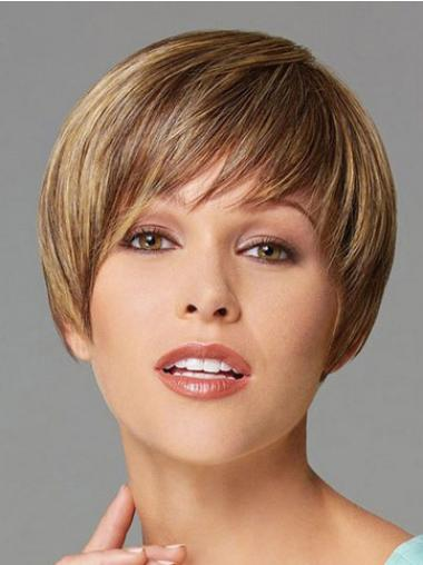 Straight Soft Synthetic Blonde Wigs