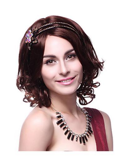 Wavy Classy Synthetic Auburn Wigs