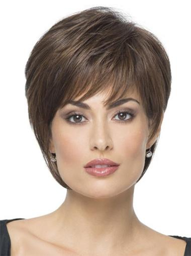 Straight Comfortable Synthetic Brown Wigs