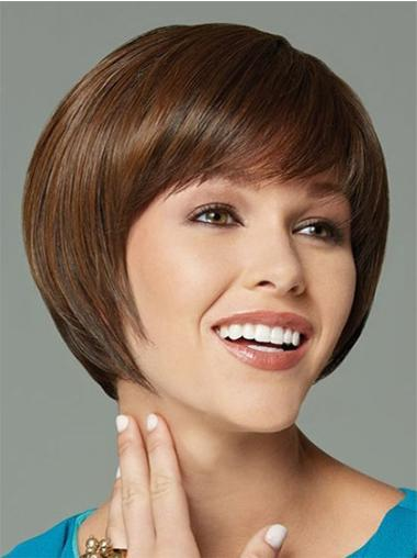 Straight Ideal Synthetic Brown Wigs