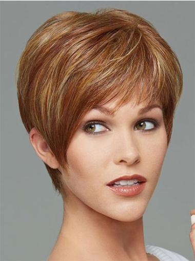 Straight Designed Synthetic Brown Wigs