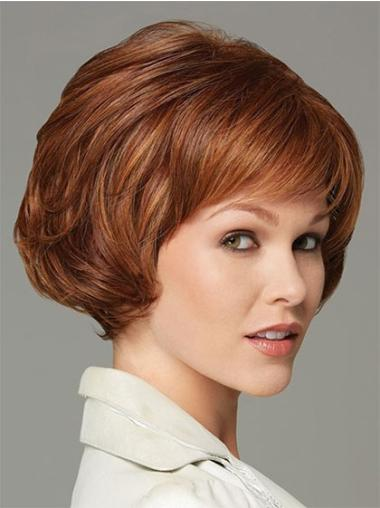 Straight Perfect Synthetic Auburn Wigs