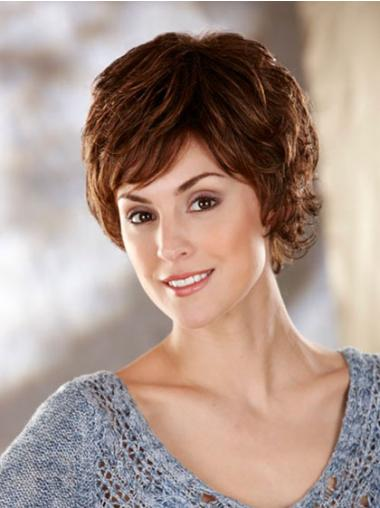 Wavy Capless Short Synthetic Brown Wigs