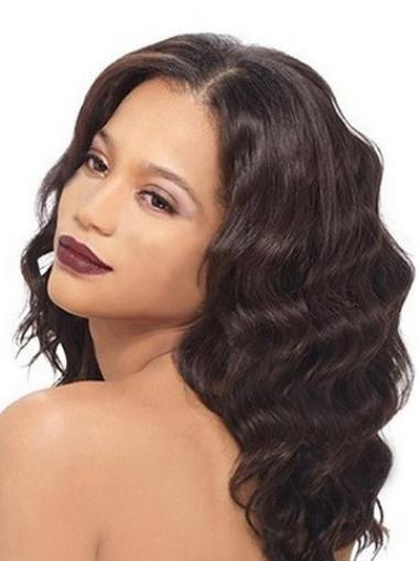 """Remy Human Hair 16"""" Auburn Lace Front Wavy Wigs"""