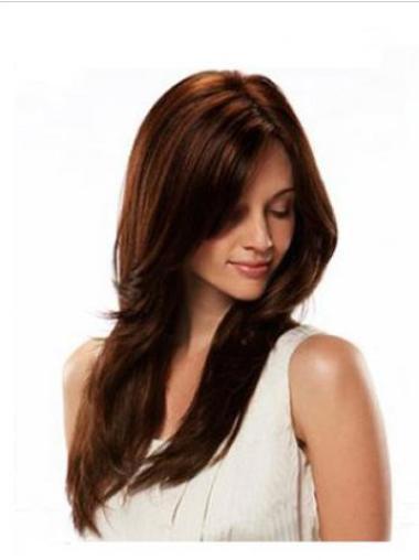 "Remy Human Hair 20"" Auburn Full Lace Straight Wigs"