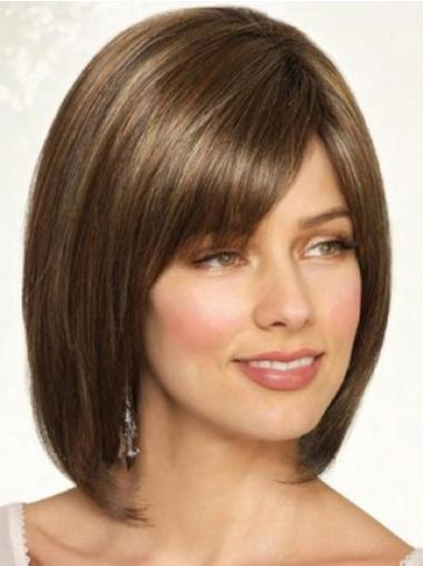 Full Lace Synthetic Brown Straight Flexibility Wigs