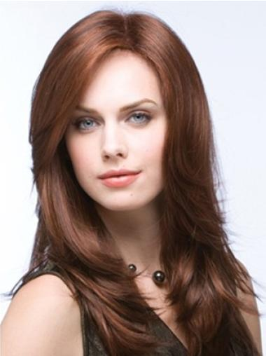 Full Lace Synthetic Auburn Straight Comfortable Wigs