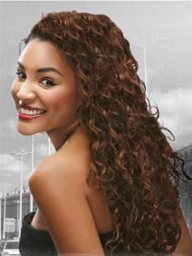 Full Lace Remy Human Hair Auburn Curly Soft Wigs