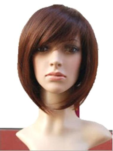 Full Lace Remy Human Hair Auburn Straight Classy Wigs