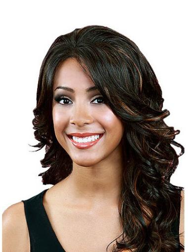 Lace Front Synthetic Black Wavy Perfect Wigs