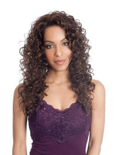 Lace Front Synthetic Brown Curly Ideal Wigs