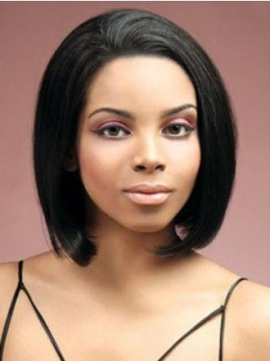 "Monofilament Straight Short Remy Human Hair 8"" Wigs"