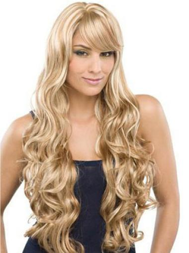 "Full Lace Wavy Long Remy Human Hair 26"" Wigs"