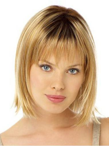 Lace Front Straight Medium Synthetic Wigs