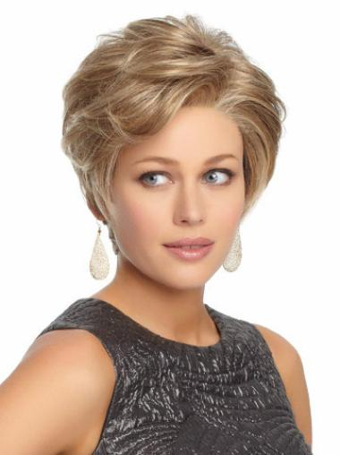 Blonde Synthetic Suitable Wavy Wigs
