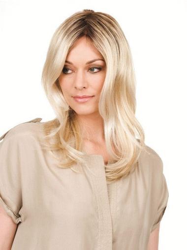 Blonde Synthetic Trendy Wavy Wigs