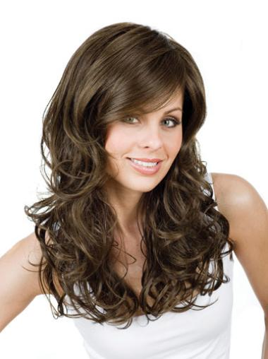 Brown Synthetic Affordable Curly Wigs