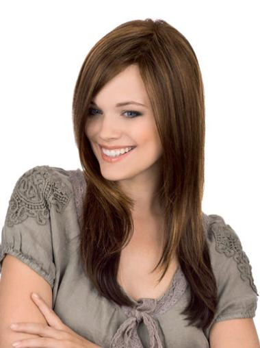 Brown Remy Human Hair Fabulous Straight Wigs
