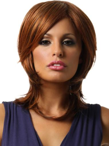 Auburn Synthetic Affordable Straight Wigs