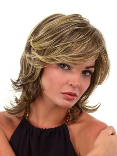 Blonde Synthetic Comfortable Wavy Wigs