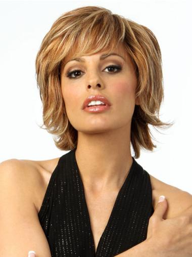 Brown Remy Human Hair Beautiful Wavy Wigs