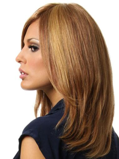 Brown Remy Human Hair Great Straight Wigs