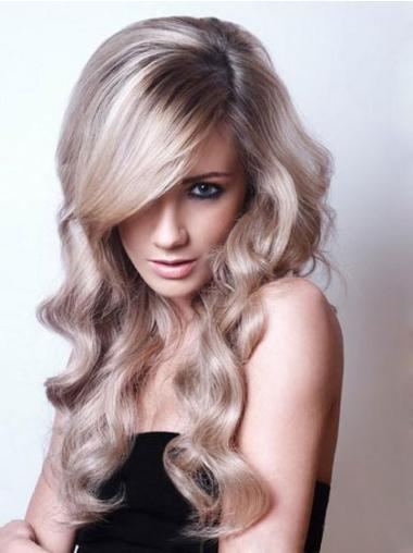 Grey Synthetic Ideal Wavy Wigs