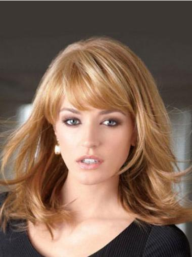 Blonde Synthetic Cheap Straight Wigs