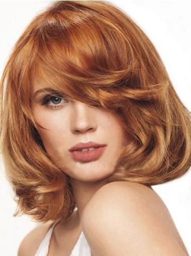 Auburn Synthetic Trendy Wavy Wigs