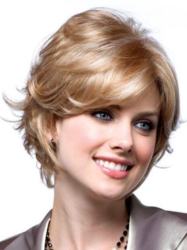 Blonde Synthetic Modern Wavy Wigs