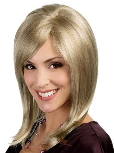 Blonde Synthetic Hairstyles Straight Wigs