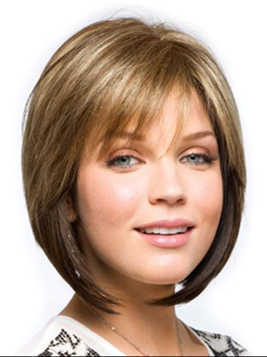 Blonde Synthetic New Straight Wigs
