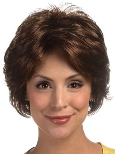 Lace Front Short Brown Affordable Wigs