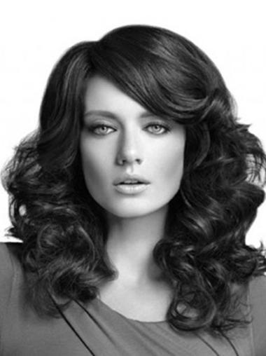 Lace Front Long Black Flexibility Wigs