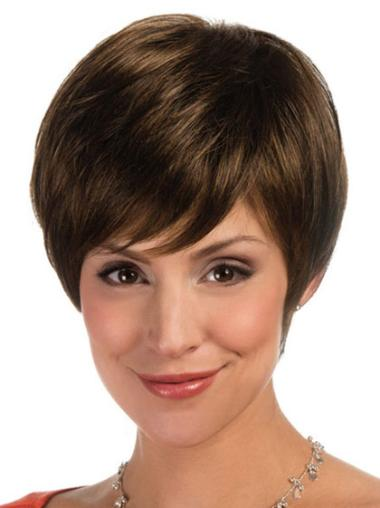 Lace Front Short Brown Comfortable Wigs