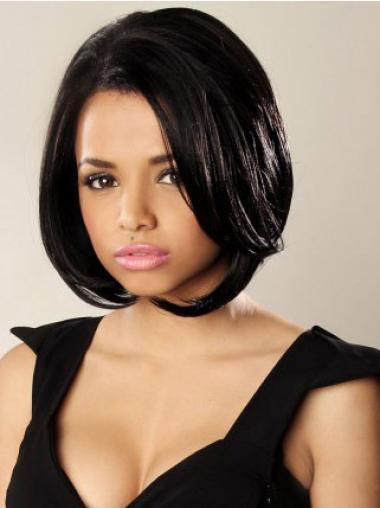 Lace Front Short Black Fashion Wigs
