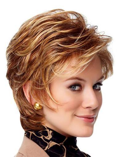 Monofilament Short Auburn Ideal Wigs