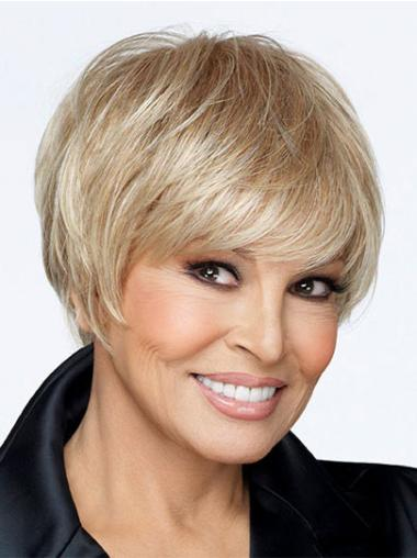 Monofilament Short Blonde Suitable Wigs