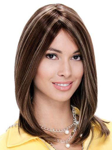 Monofilament Medium Auburn Cheap Wigs