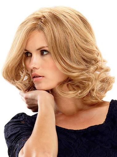 Monofilament Medium Blonde Style Wigs